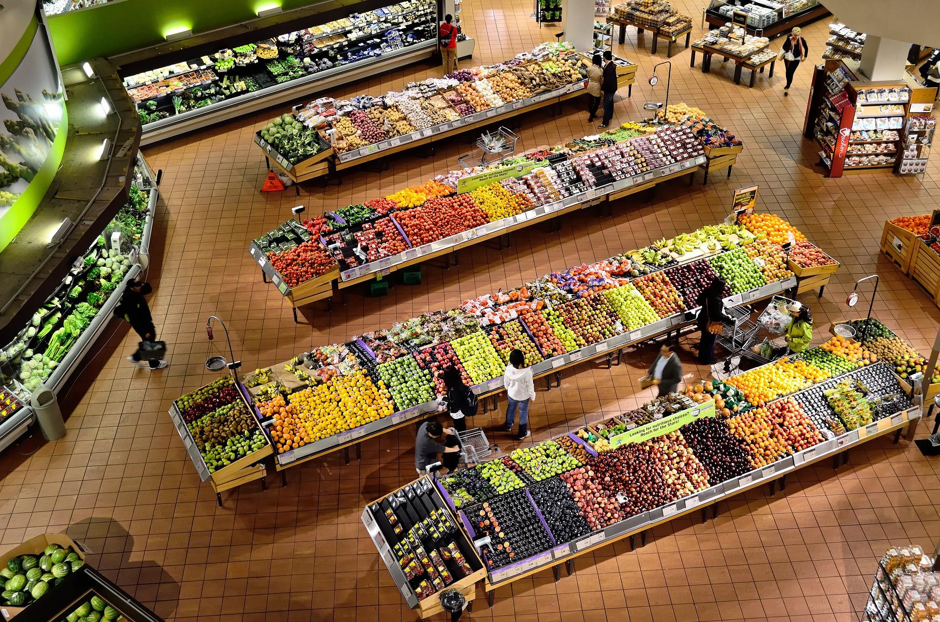 supermarché gms produits frais