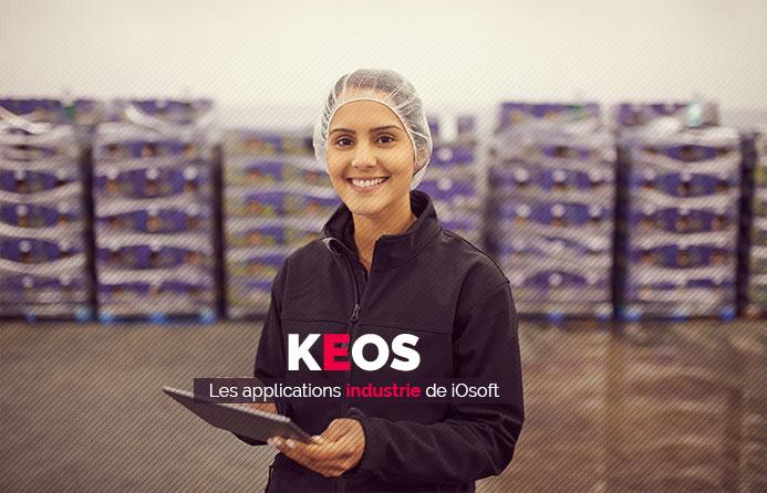 bandeau titre Keos, logiciel de gestion pesage et traçabilité pour industrie