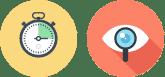 Icône gain de temps et visibilité des données